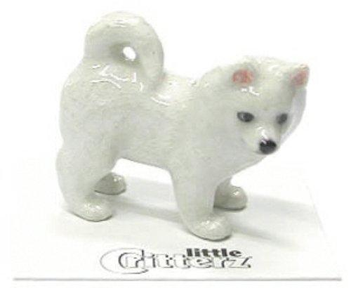 "Little Critterz Miniature Porcelain Animal Figure Eskimo Dog /""Eskie/"" LC813"