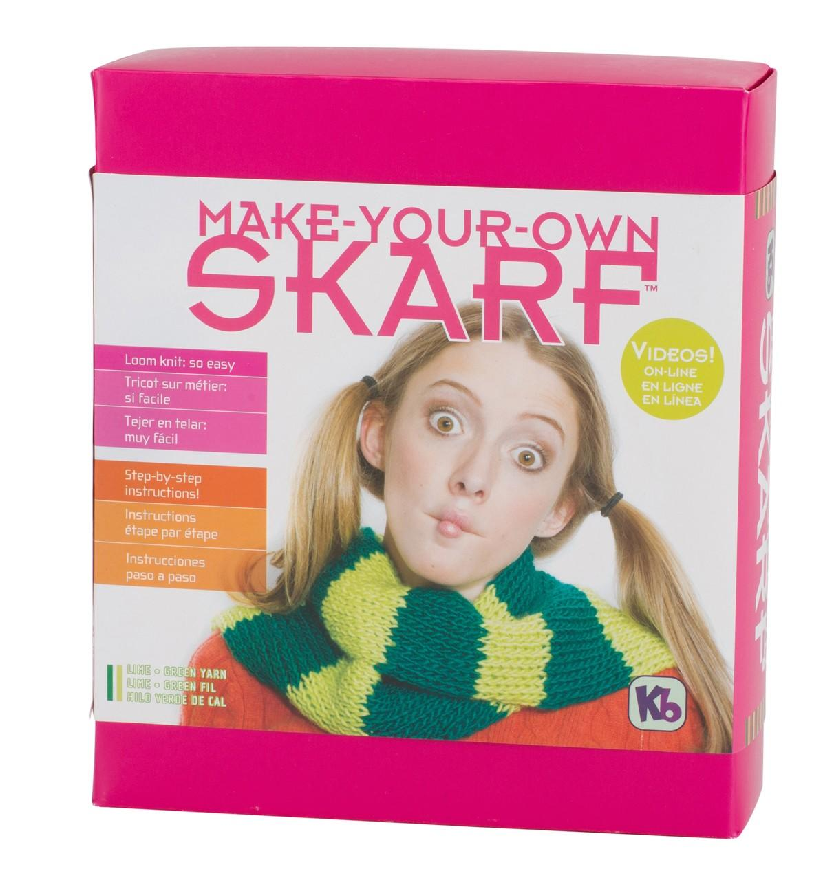 Knit Your Own Scarf Kit<P>Green