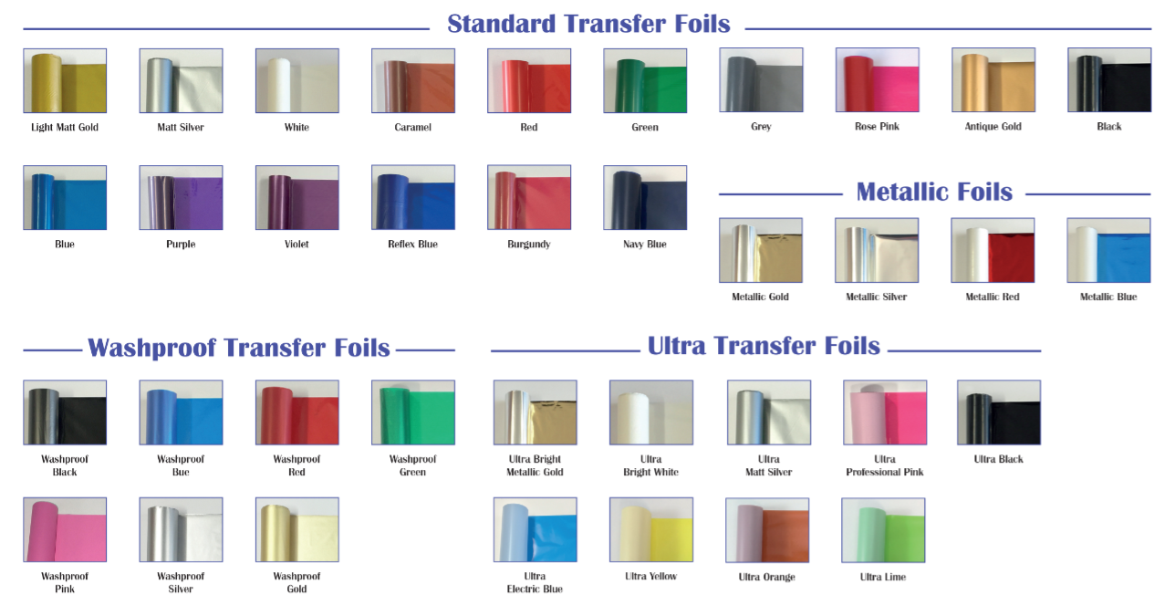 Transfer Foil<P>Colours