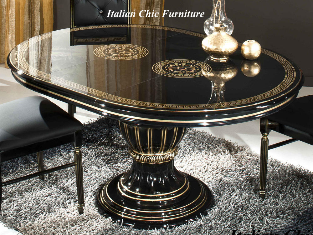 Versace style rossella round table 4 medusa head for Table versace