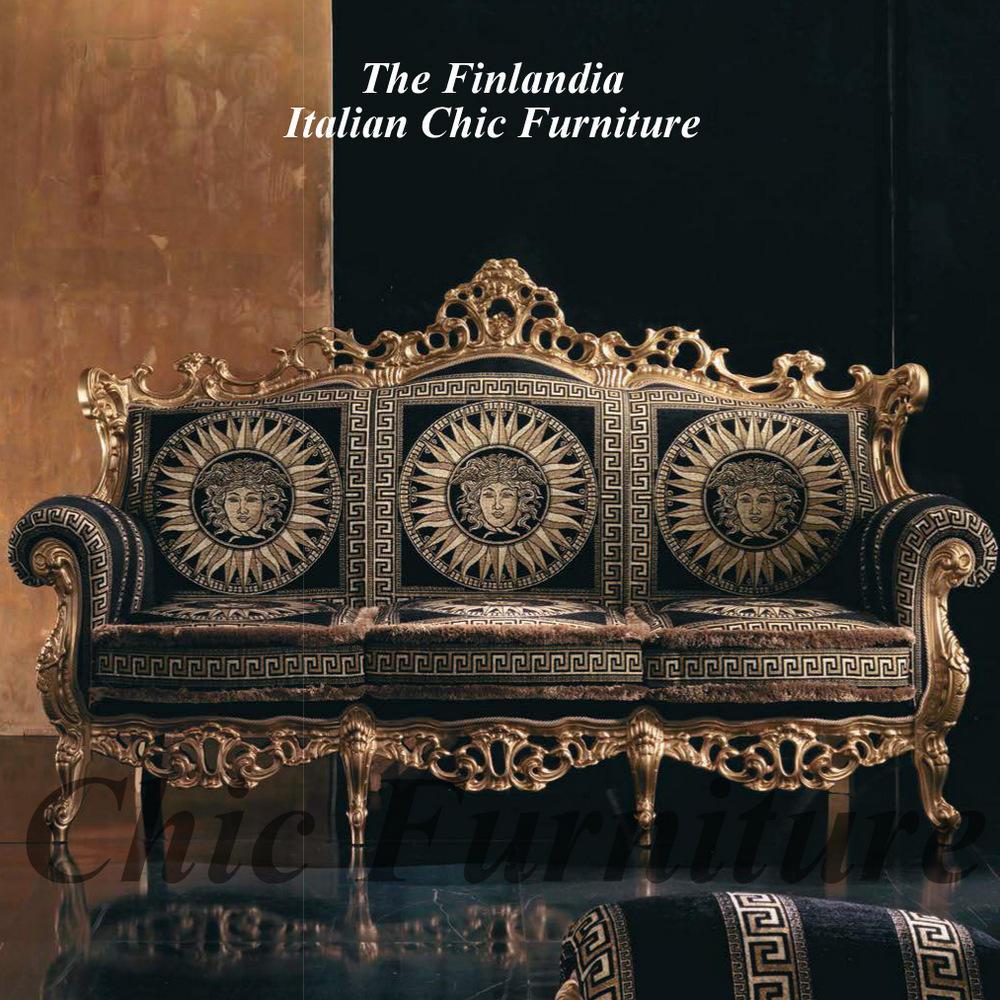 Finlandia Baroque Versace Style Fabric Sofas
