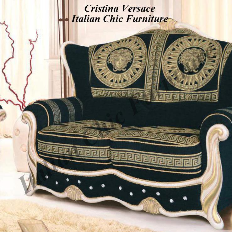 Cristina 2 Seater Versace Fabric Sofa
