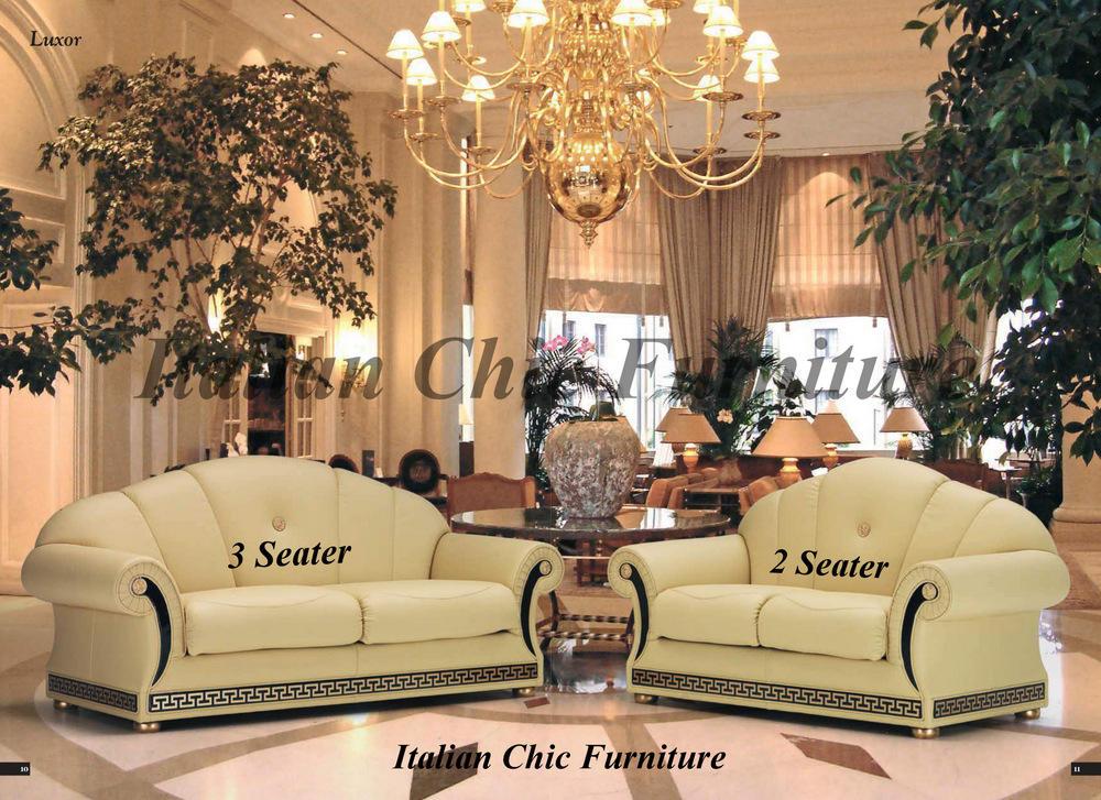 Luxor 2 Seater Italian Leather Sofa