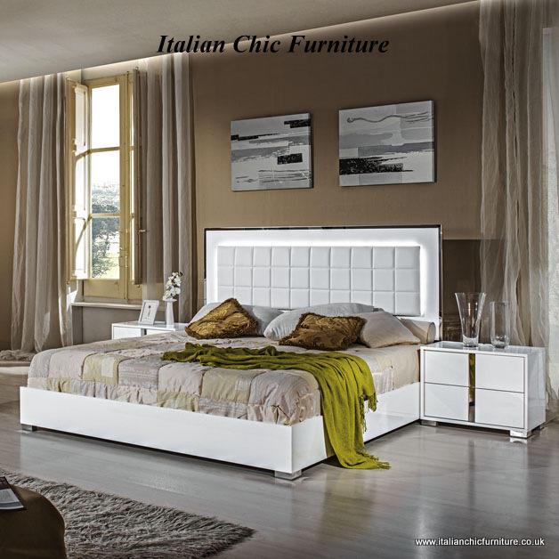 San Marino Bedroom Set with 4 Door Wardrobe White