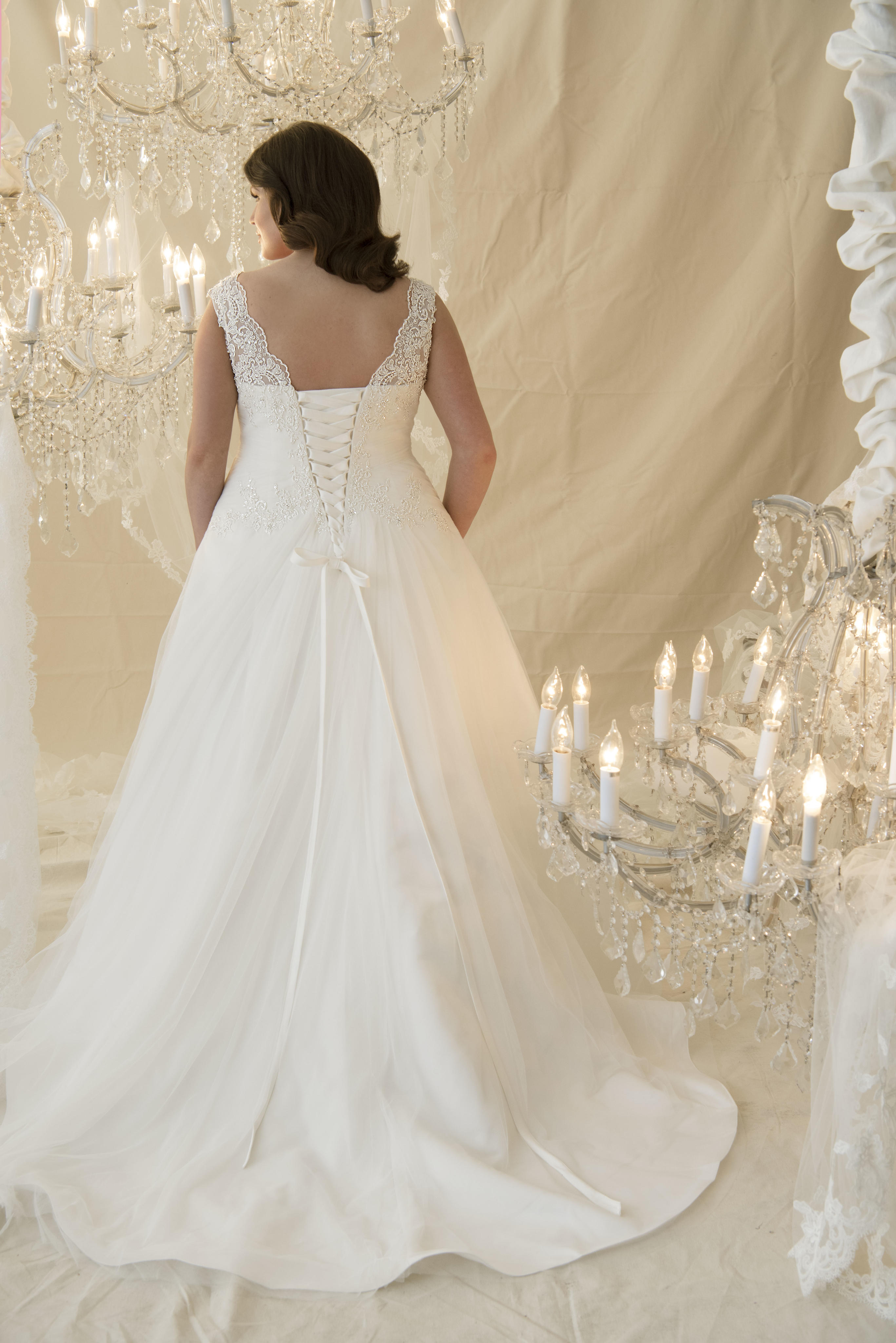 Chiffon tulle aline gown for Chiffon tulle wedding dress