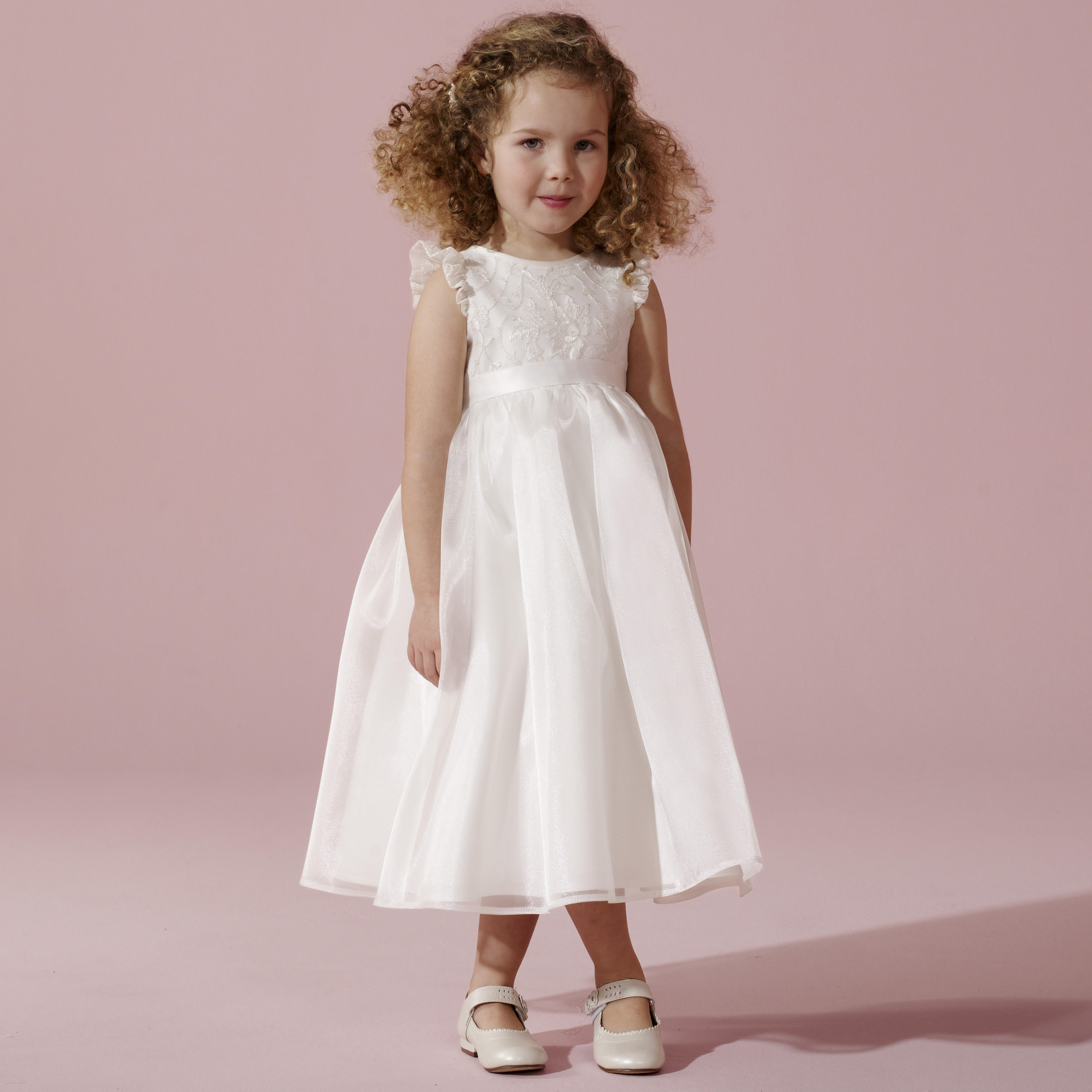 Lace flower girl bridesmaids dresses 13000 embroidered organza flower girl dress ombrellifo Choice Image