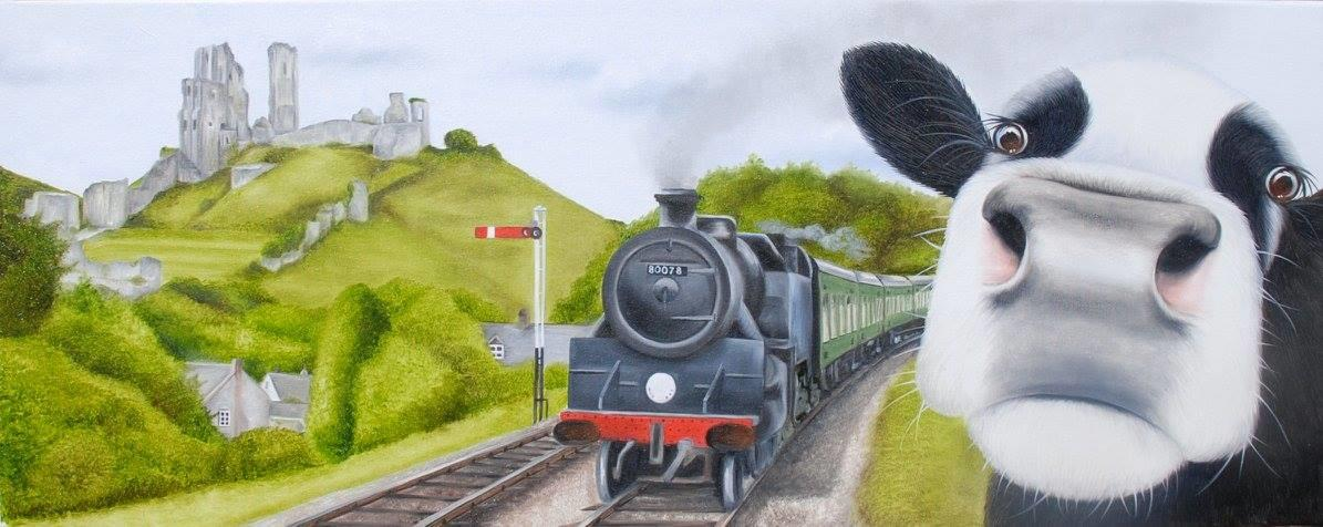 Moo Selfie Corfe Castle Amp Swanage Steam Train Dorset By