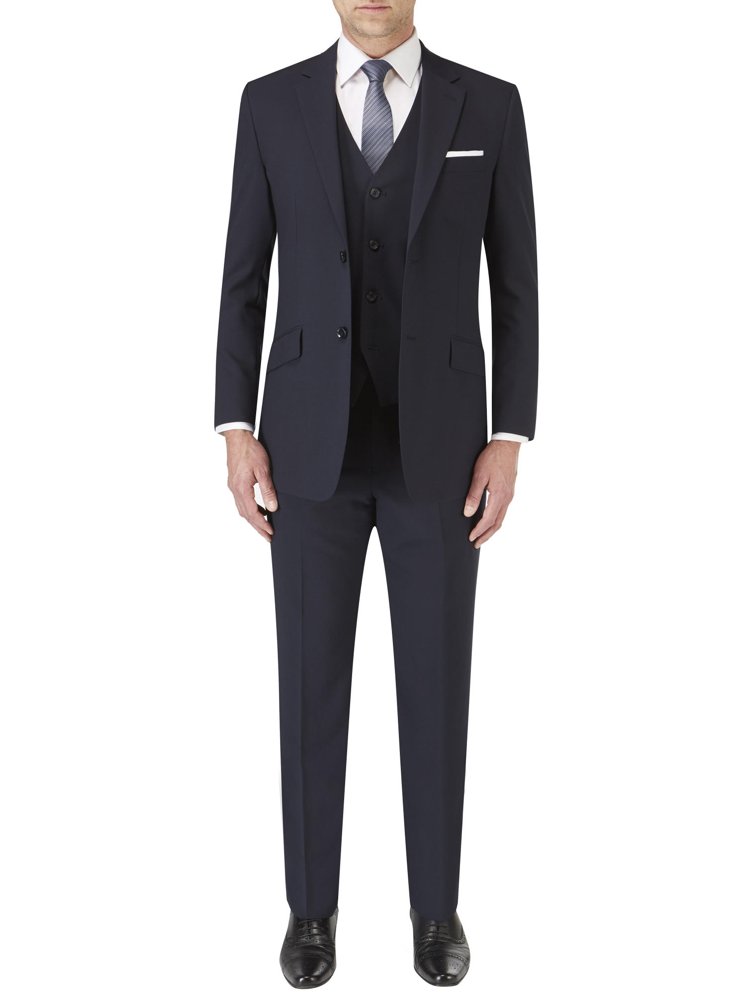 Skopes Darwin Tailored Fit Suit Navy