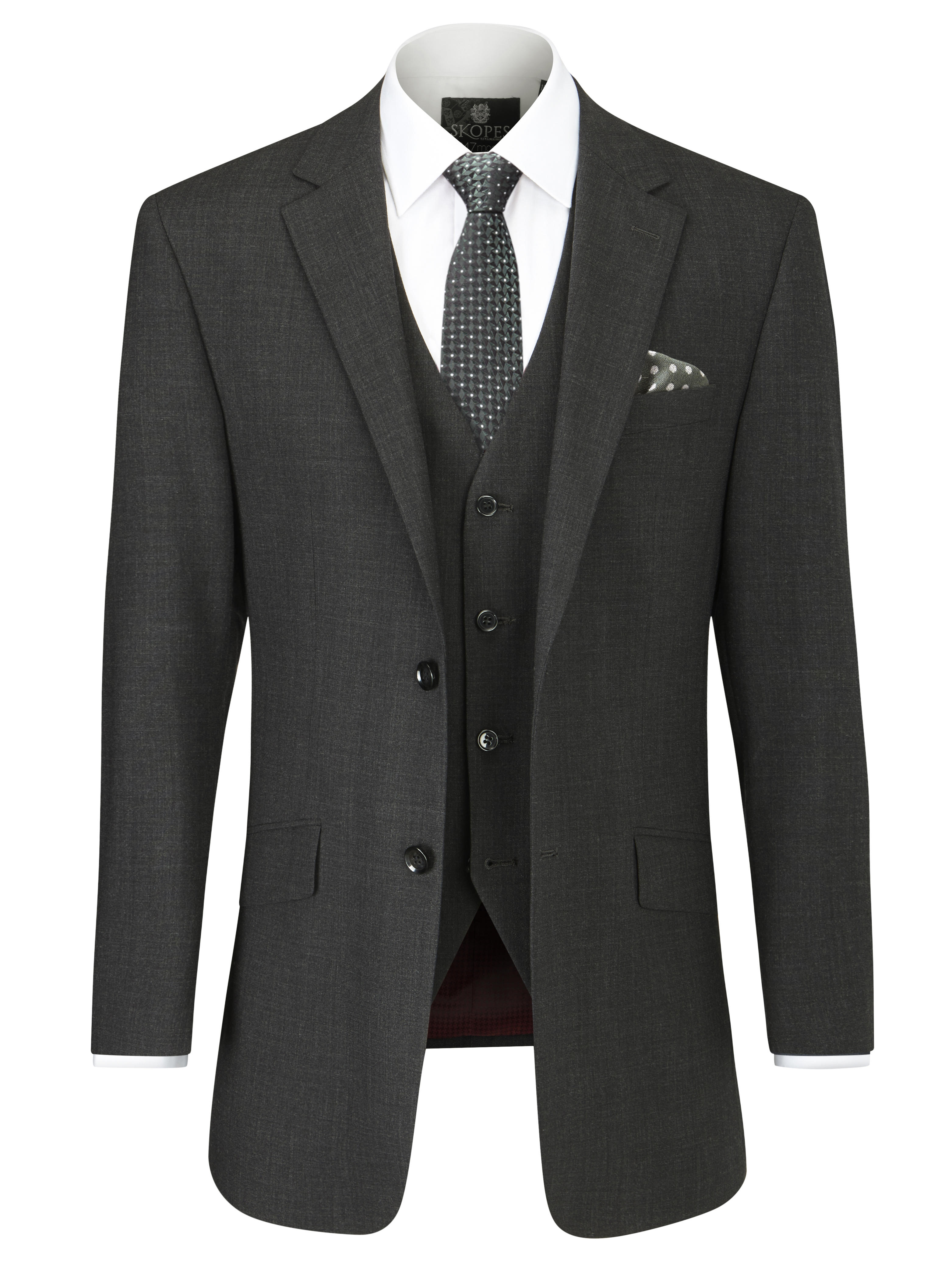Skopes Darwin Tailored Fit Suit Jacket Charcoal ...