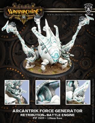 Retribution Arcantrik Force Générateur Battle Engine (resin And Metal)-afficher Le Titre D'origine Apparence éLéGante
