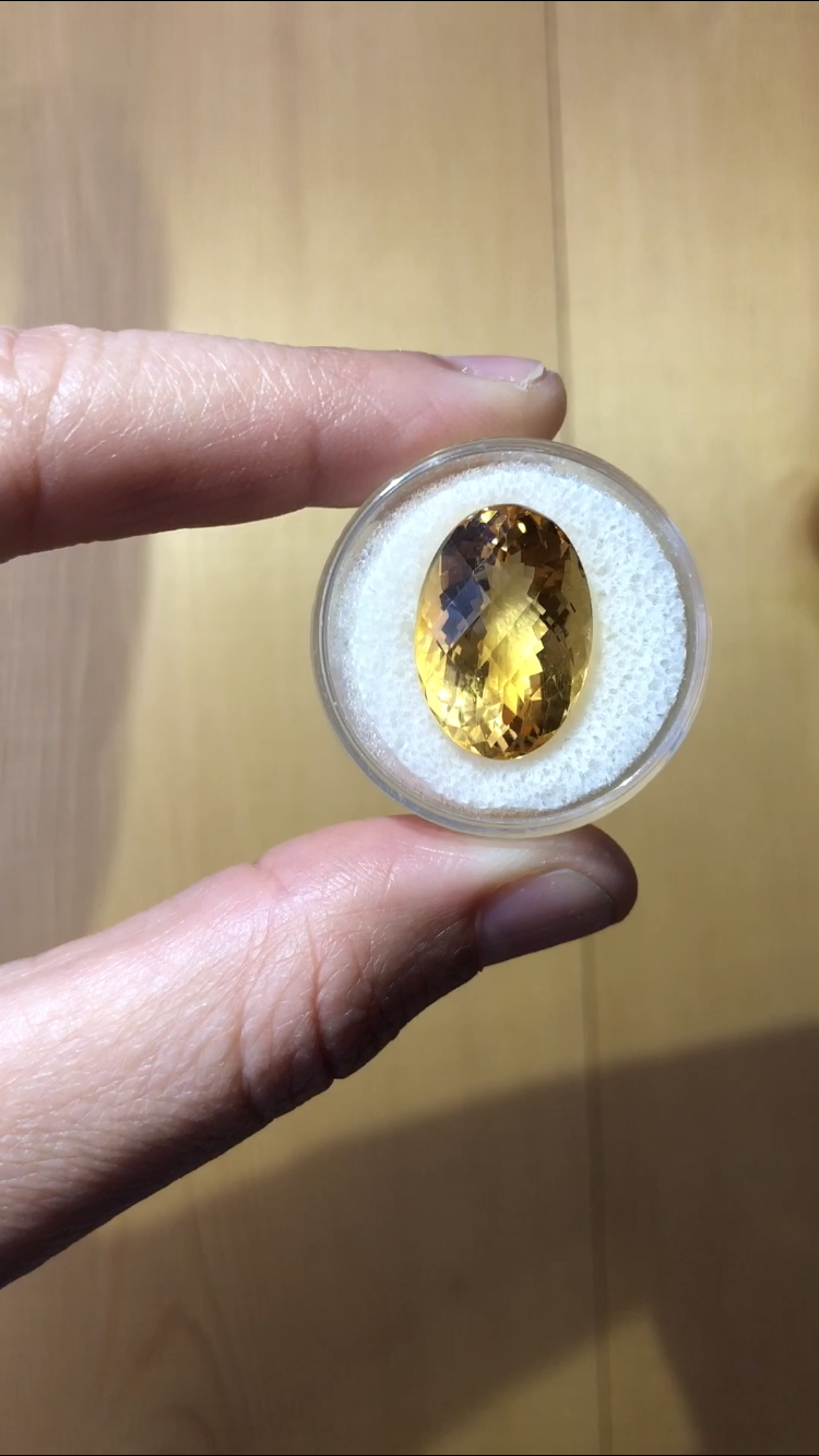 Citrine 13.88 cts Oval Cut
