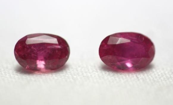 Ruby 1.2 cts Oval cut  - Pair