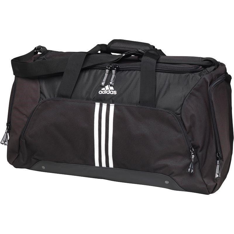 70c8df46e5ed Adidas 3 Stripe Gym Bag Black