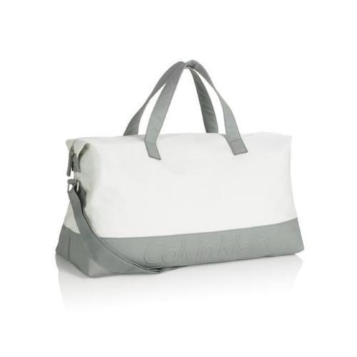 4a0c53d00d Calvin Klein White/Grey Duffel Bag/ Travel Bag