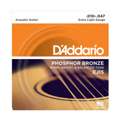 D'Addario Phosphor Bronze Acoustic Guitar Strings