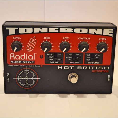 Radial ToneBone Hot British Distortion Guitar Effect Pedal