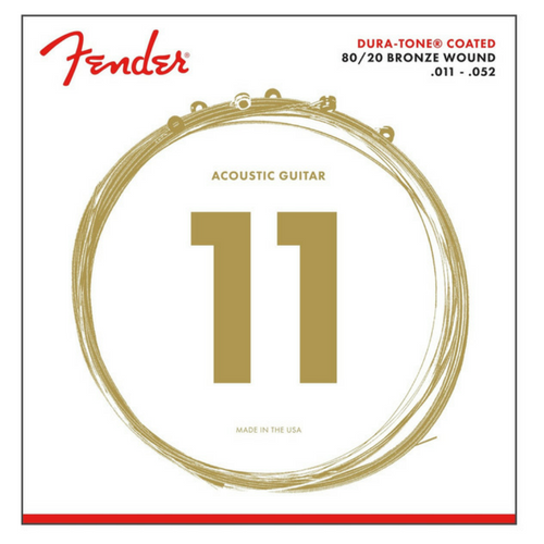Fender 80/20 Dura Tone Coated Acoustic Guitar Strings
