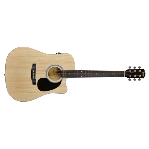 Fender Squier SA-105CE Dreadnought Electro Acoustic Guitar