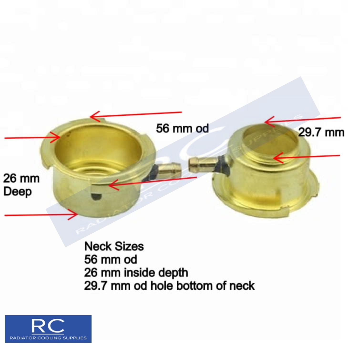 Long Reach Brass Radiator Filler Neck