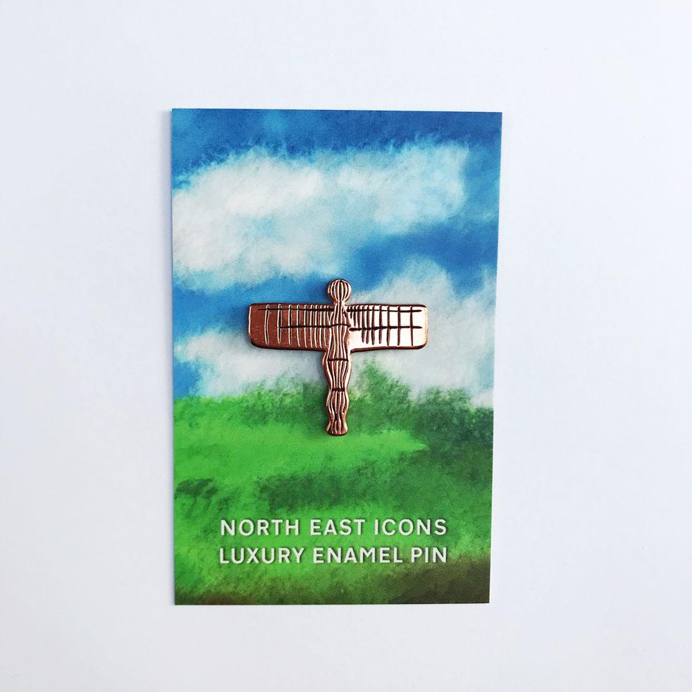 Angel of the North enamel pin