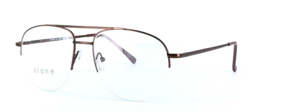 Jamie - Gents Aviator Style Semi-Rimless Glasses Frame | Black ...