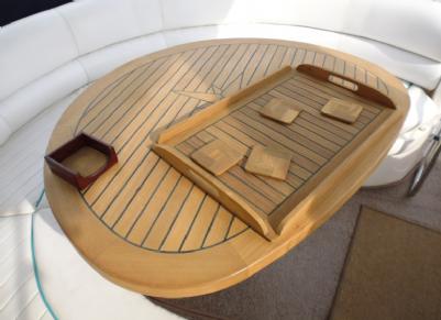 Teak Tray Caulked Design Modern Marine Teak
