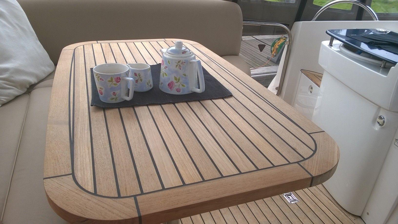 Nautic Star Sealine S38 Sc38 Teak Boat Table Marine Teak