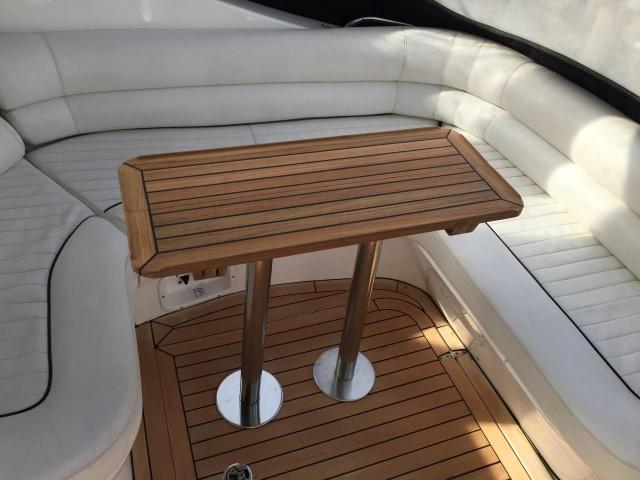 Nautic Star Sealine S34 Slide Teak Boat Table Marine Teak