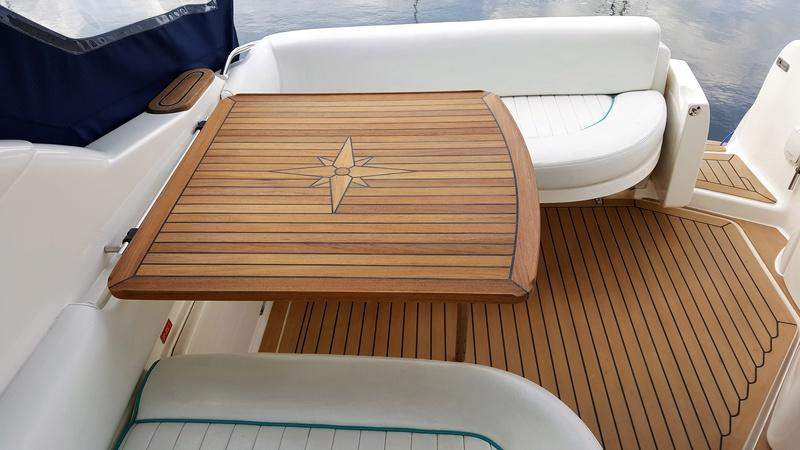 Nautic Star Sealine S28 Teak Boat Table Marine Teak