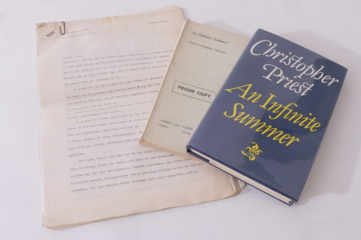 Christopher Priest - An Infinite Summer Manuscript w/ Proof and First Edition - Faber, 1979, First Edition.