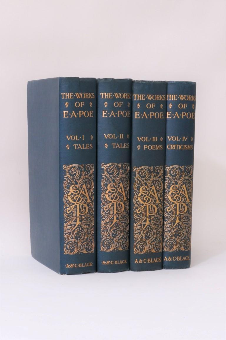 Edgar Allan Poe - The Works of Edgar Allan Poe - Standard Edition - A&C Black, 1913, First Thus.