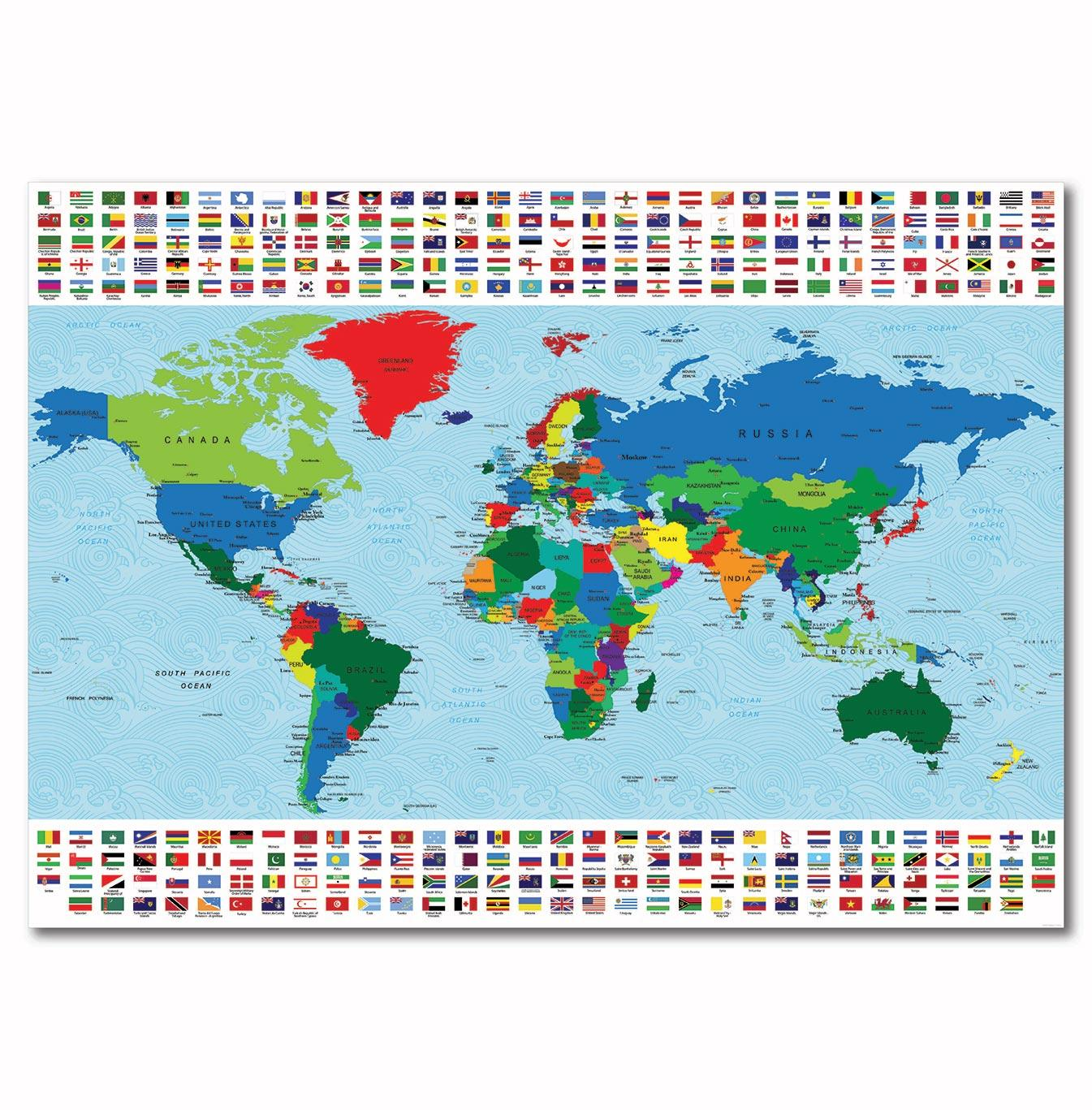 World map and world flags gumiabroncs Choice Image