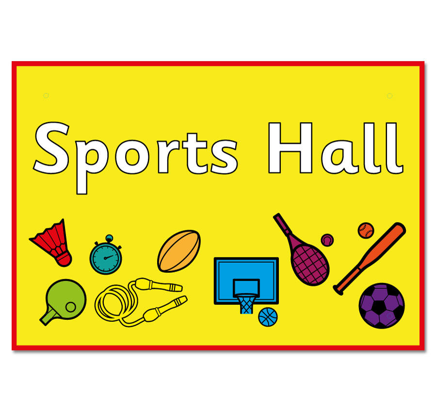 hall sports sign