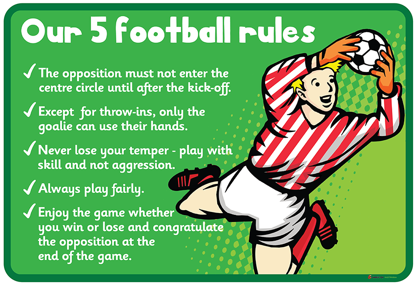 football rules sign