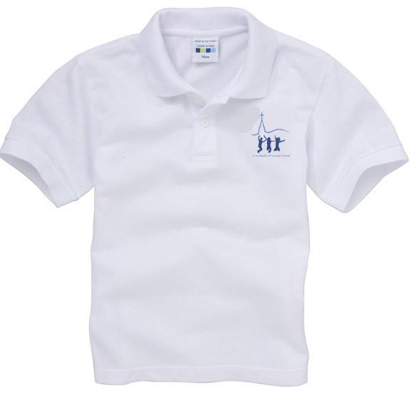 34e586e86 St Michael's Juniors Polo Shirt - White