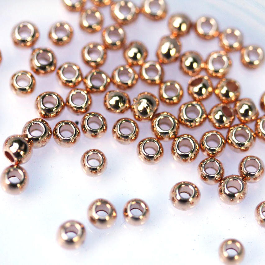 Rose Gold 3mm Ball Beads