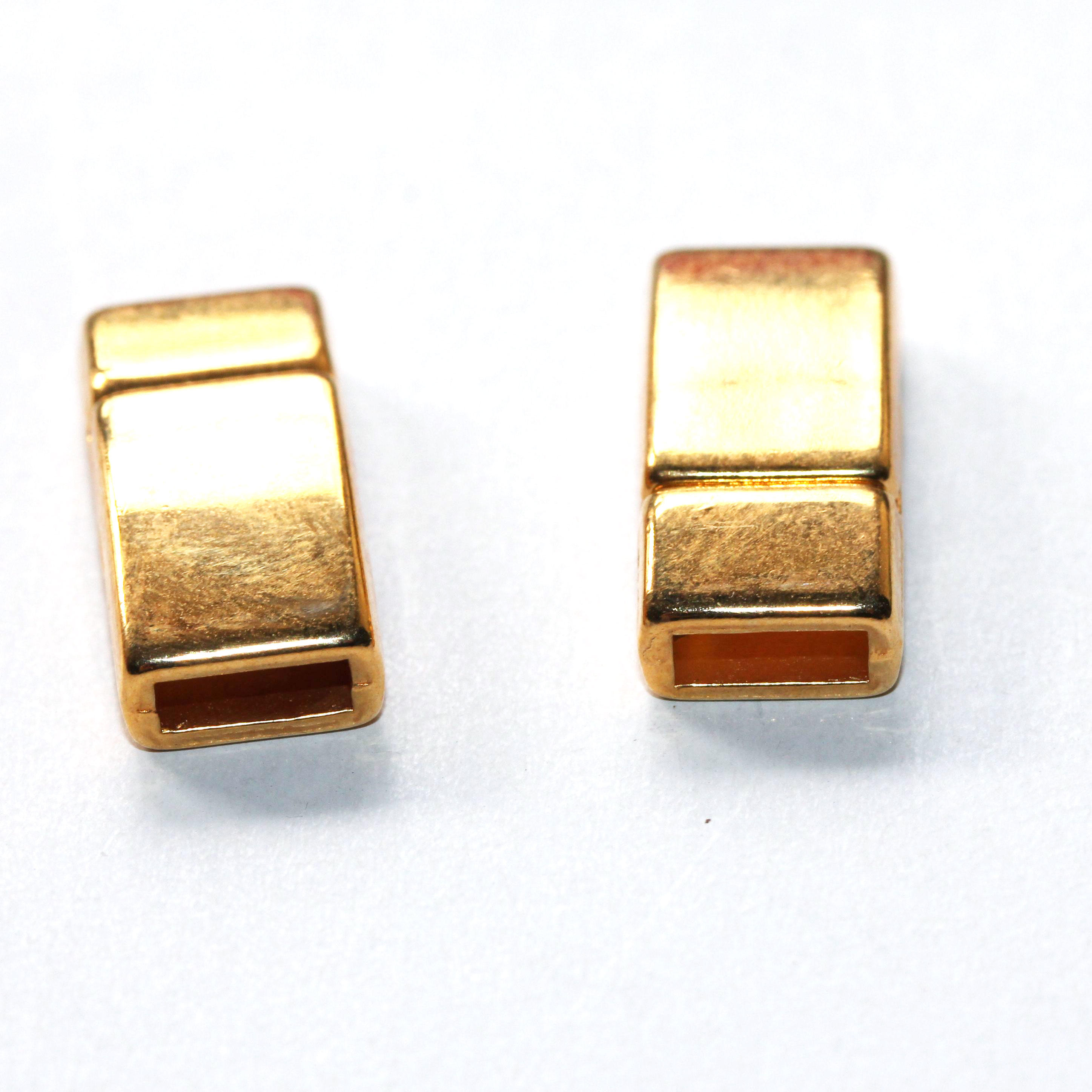 Gold Magnetic Clasp Fits 6/2mm leather and cords