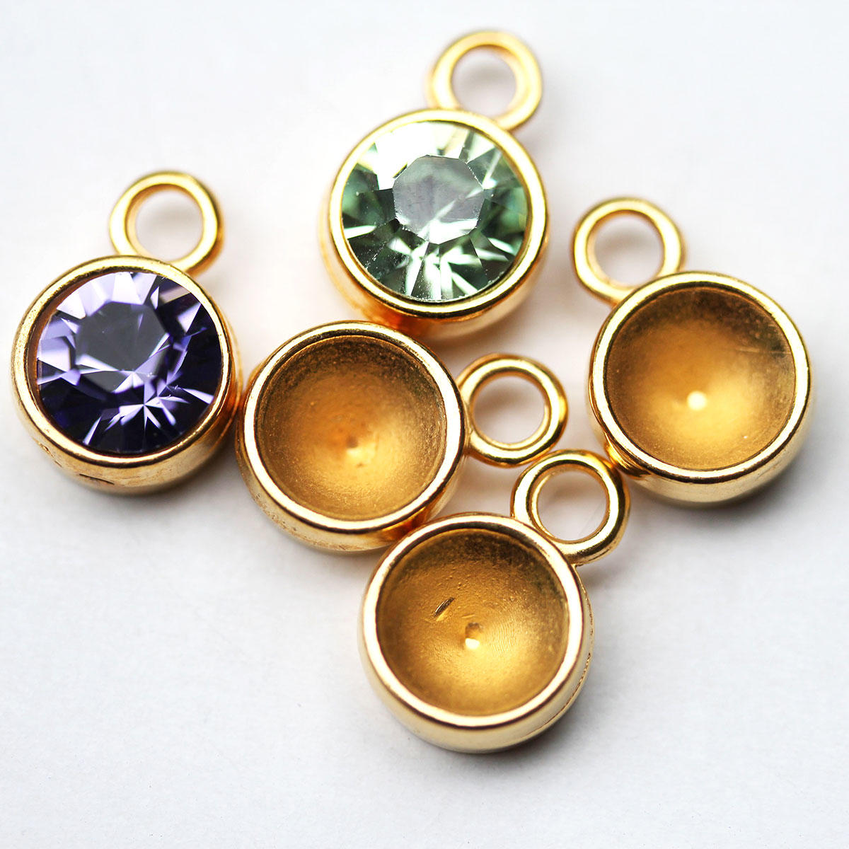 Gold pendant setting for ss39 swarovski crystals aloadofball Gallery