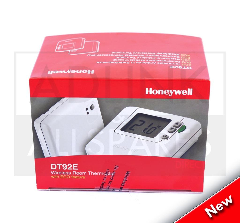 honeywell dt92e wireless room thermostat with eco featu. Black Bedroom Furniture Sets. Home Design Ideas