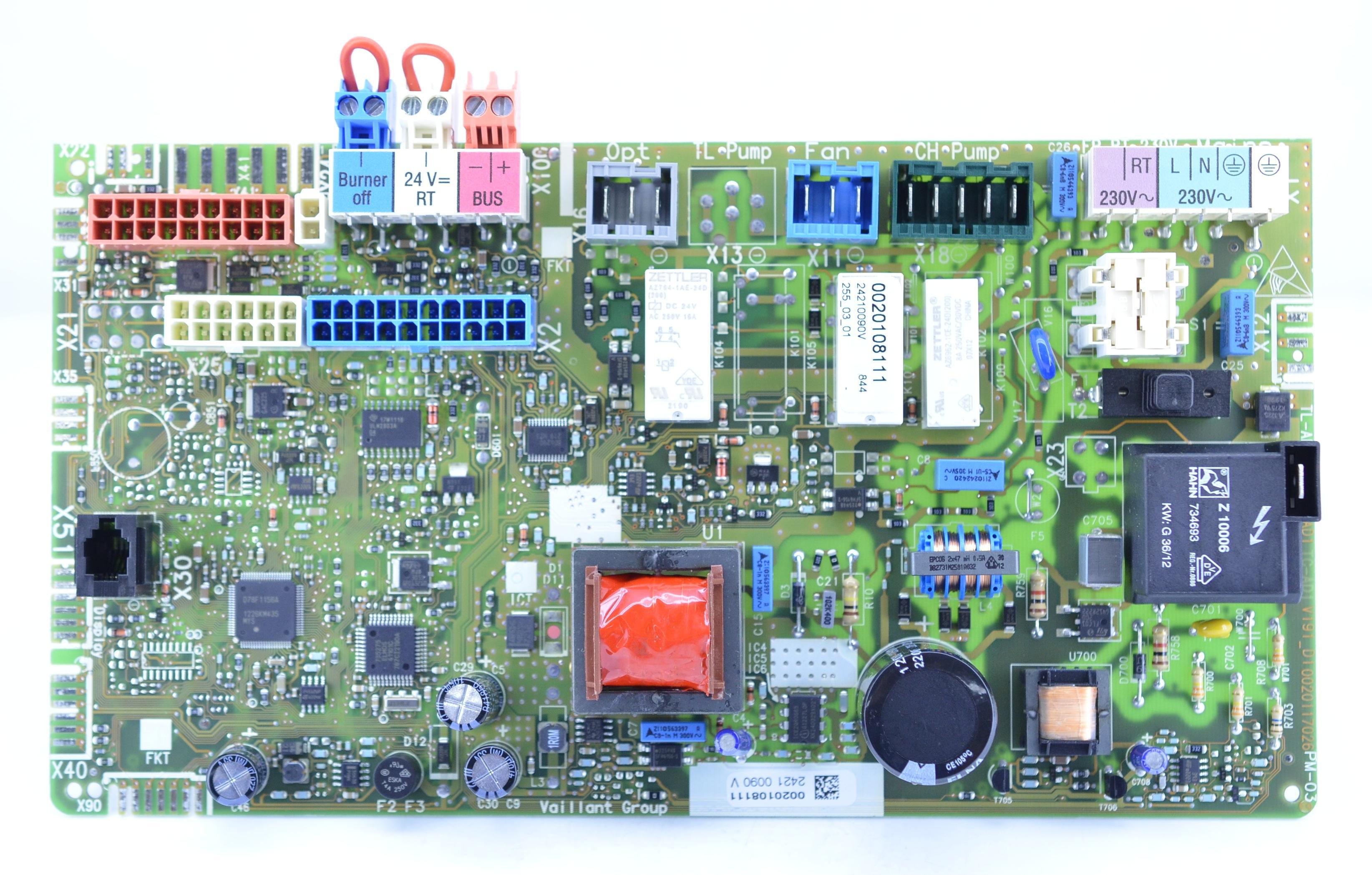 Vaillant Ecotec Plus 824 831 837 2012 Model Circuit Board Pcb 101 How To Build A 0020135165