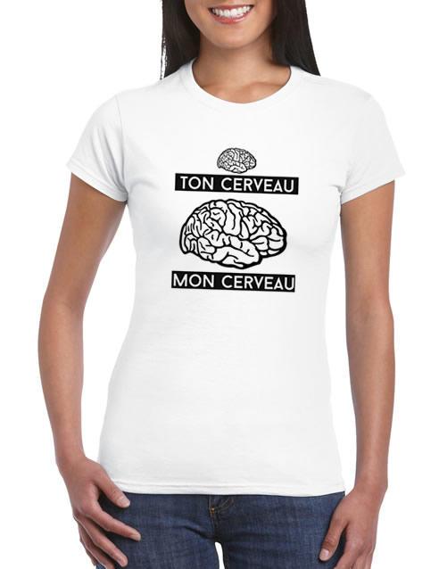 tee shirt femme ton cerveau mon cerveau. Black Bedroom Furniture Sets. Home Design Ideas