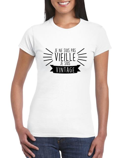 Je Suis Vieille Pas Shirt Tee Ne Femme Vintage QtCrhxsd