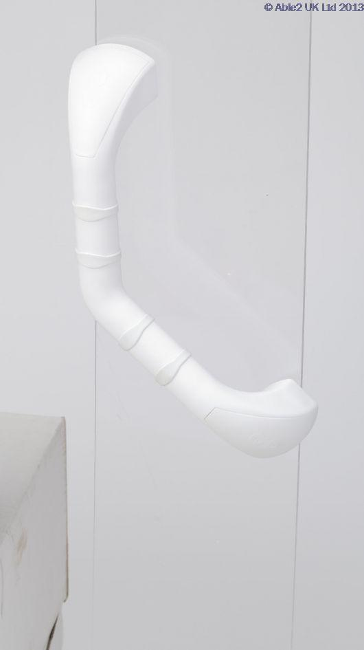 Prima Grab Bar White Angled
