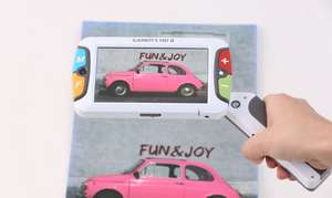 HIMS Candy 5 magnifiying a pink car