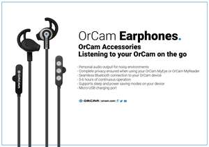 OrCam Earphones, listening to your OrCam when on the go!