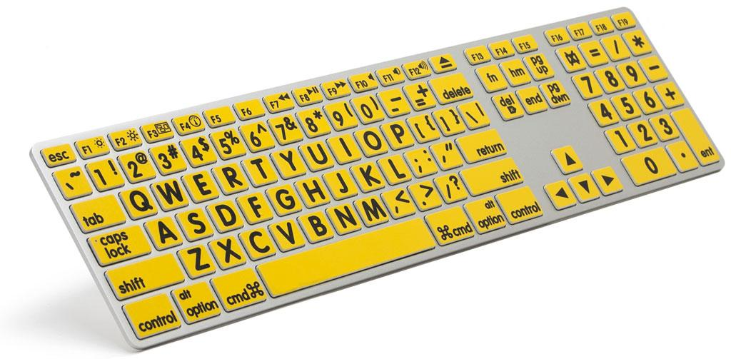VTKeys Mac Large Black Letters on Yellow Keys