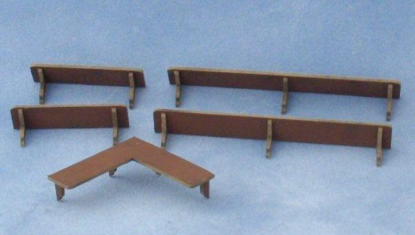 1/48th scale 5 Wall Shelves Kit
