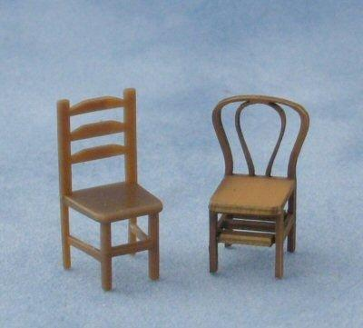 Bentwood Chairs with plastic chair
