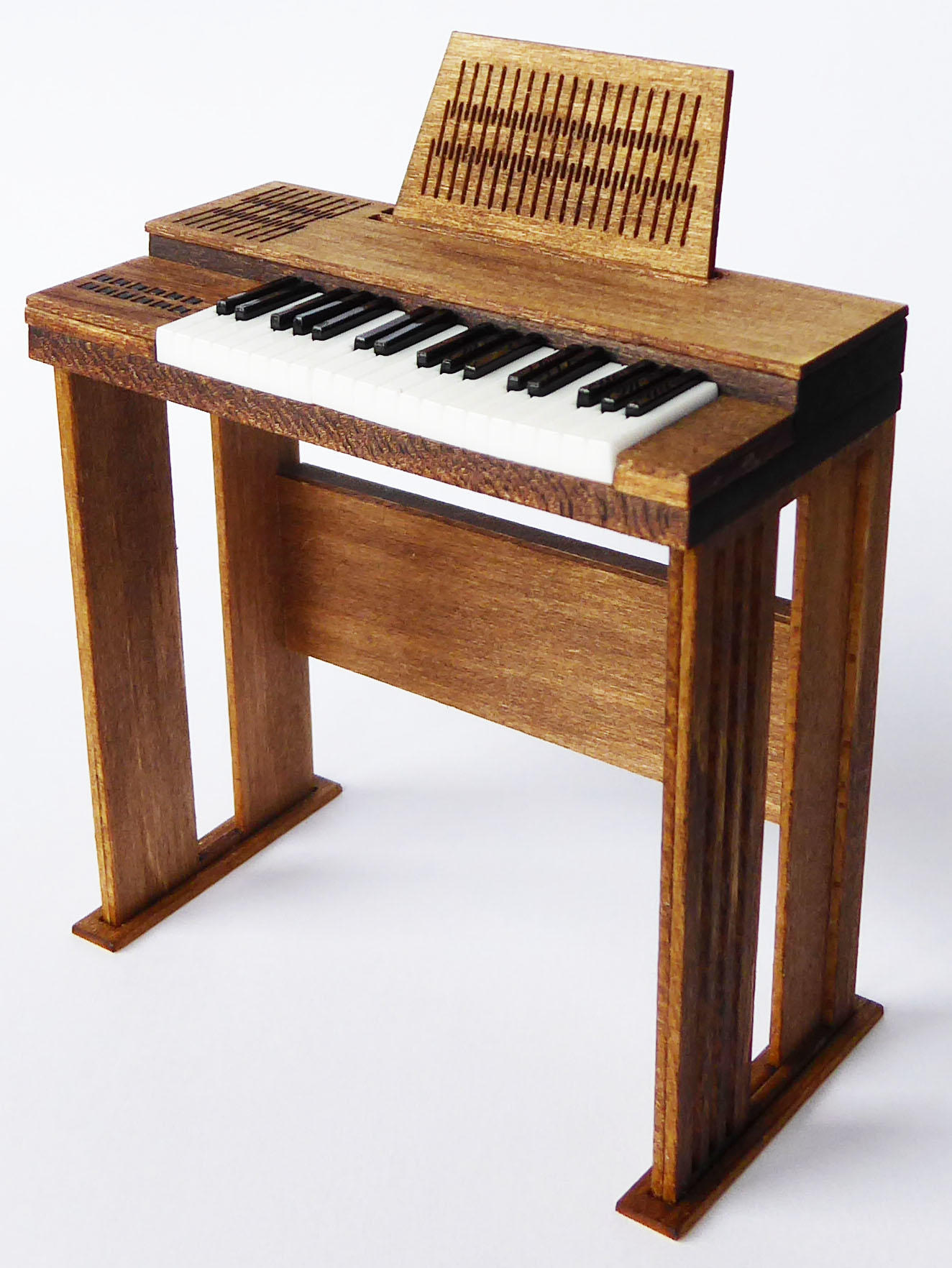 1/48th scale 70s Retro Organ Keyboard Kit