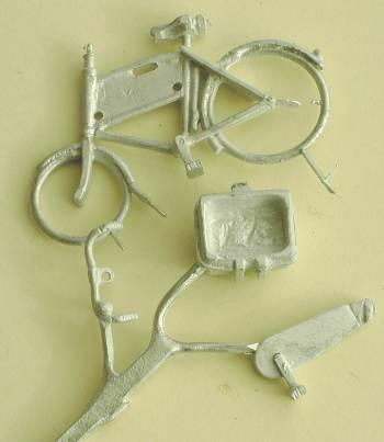 Components for 1/48th scale Shopper Store Delivery Bike